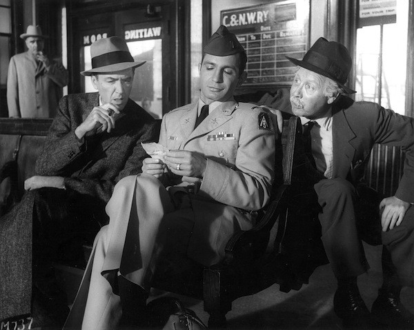 James Stewart, Ben Gazzara and Arthur O'Connell in Anatomy of a Murder