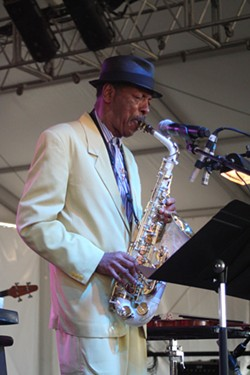 Jazz legend Ornette Coleman performs shortly before passing out from heat exhaustion (Bonnaroo, Manchester, Tenn., June 14-17)