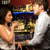 Jenny Slate and Jake Lacy in Obvious Child. (Photo: A24)