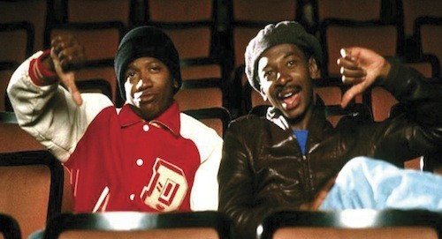 Jimmy Woodard and Robert Townsend in Hollywood Shuffle (Photo: MGM)