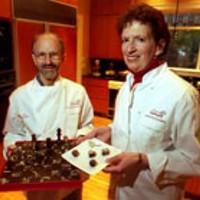 Joal Fischer and Debbie Langsam of BARKING DOG      CHOCOLATIERS