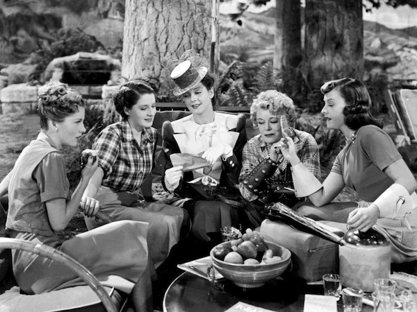 Joan Fontaine, Norma Shearer, Rosalind Russell, Mary Boland and Paulette Goddard in The Women (Photo: Warner Bros.)