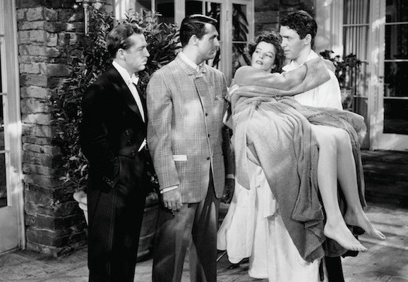 John Howard, Cary Grant, Katharine Hepburn and James Stewart in The Philadelphia Story (Photo: Warner Bros.)