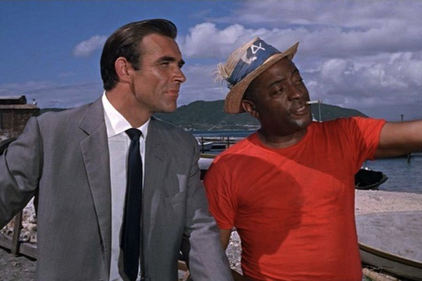 John Kitzmiller (right) as the likable Quarrel, shown with Sean Connery