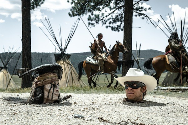 Johnny Depp as Tonto and Armie Hammer as The Lone Ranger (Photo: Disney)