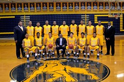 Johnson C. Smith University's men's basketball team representin'