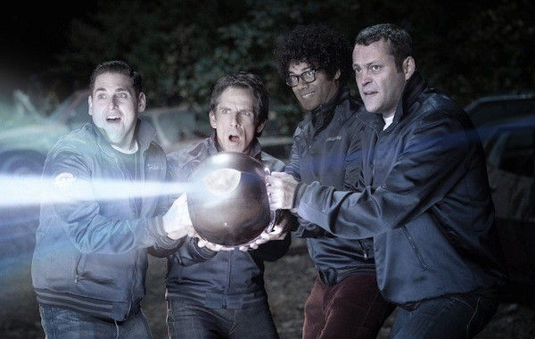 Jonah Hill, Ben Stiller, Richard Ayoade and Vince Vaughn in The Watch (Photo: Fox)