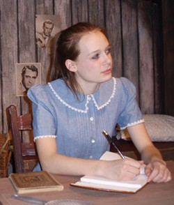 BOB TULLY - Julia Grigg as Anne Frank in The Diary of Anne Frank