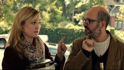 Julie Stiles and David Cross in It's a Disaster (Photo: Oscilloscope)