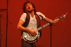JEFF HAHNE - JUMP FOR JOY: Scott Avett performs during The Avett Brothers' Dec. 30, 2008, show at Belk Theater.