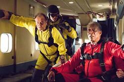 SIDNEY BALDWIN / WARNER BROS. - JUMPY OLD MEN: Edward (Jack Nicholson) and Carter (Morgan Freeman) are ready to bail in The Bucket List.