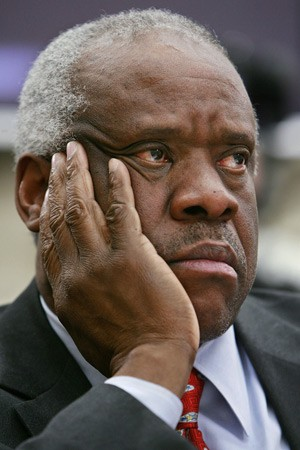 Justice Clarence Thomas: Why in hell did Ginni have to bring this stuff up again? Somebody hand me a Coke.