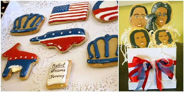 Kaias Cookies pays homage to the whole Obama clan by creating their likeness with her cookies.