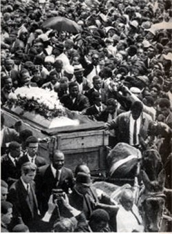 Karl Fleming, lower left, at Martin Luther King Jr.'s - funeral