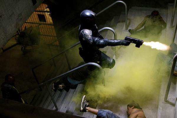 Karl Urban in Dredd (Photo: Lionsgate)