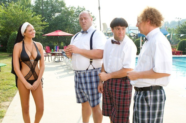 Kate Upton, Will Sasso, Chris Diamantopoulos and Sean Hayes in The Three Stooges - FOX