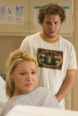 Katherine Heigl and Seth Rogen in Knocked Up - SUZANNE HANOVER / UNIVERSAL STUDIOS