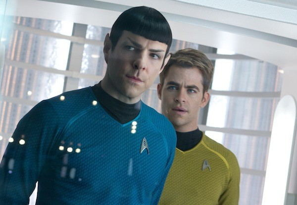 KEEP ON TREKKIN': Zachary Quinto and Chris Pine are back as Spock and Kirk in Star Trek Into Darkness. (Photos: Paramount)
