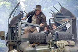 DAVID JAMES / PARAMOUNT & LUCASFILM - KEEP ON TRUCKIN': Harrison Ford, Shia LaBeouf and Karen Allen in Indiana Jones and the Kingdom of the Crystal Skull.