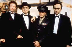 PARAMOUNT - KEEPING IT IN THE FAMILY: Don Corleone (Marlon Brando, second from left) and his three sons (James Caan, Al Pacino and John Cazale) in a scene from The Godfather.