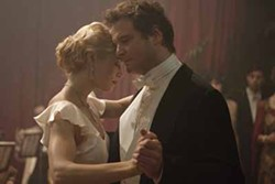 SONY PICTURES CLASSICS - KEEPING IT IN THE FAMILY: Larita (Jessica Biel) dances with her father-in-law (Colin Firth) in Easy Virtue.