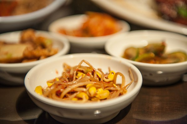 Kongnamul (spicy bean sprouts) - JUSTIN DRISCOLL