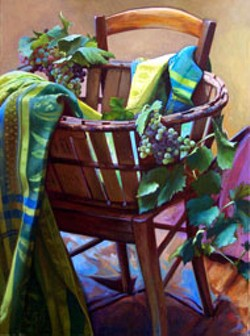 """La nappe de Nimes"" by Amy Dobbs is on display at - Shain Gallery through December."