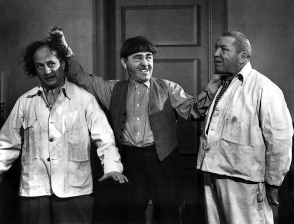 Larry, Moe and Curly, stars of The Three Stooges: The Ultimate Collection (Photo: Sony)