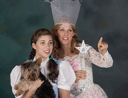 TOM COVINGTON - Laura Hix as Dorothy (with Susan Roberts Knowlson, right) in The Wizard of Oz