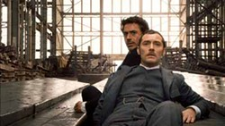 WARNER BROS. - LAYING DOWN ON THE JOB: Robert Downey Jr. and Jude Law in Sherlock Holmes.