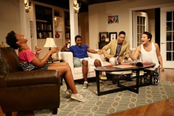 COURTESY ACTOR'S THEATRE OF CHARLOTTE - (left to right) Brandi Feemster, Rahsheem Shabazz, Jeremy DeCarlos and Moriah Thomason in Stick Fly