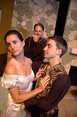 BILL GIDUZ - Left to right: Dana Childs, Spencer Lee and Brian LaFontaine in I Hate Hamlet