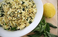 Recipe: Lemon & Basil Orzo with Goat Cheese & Pine Nuts