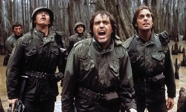 Les Lannom, Powers Boothe and Keith Carradine in Southern Comfort (Photo: Shout! Factory)