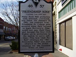 THE HISTORICAL MARKER DATABASE - LEST WE FORGET: A plaque in Rock Hill dedicated to the Friendship Nine