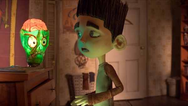 LIGHT OF THE LIVING DEAD: Norman gets spooked by his zombie lamp in ParaNorman. (Photo: Focus Features)