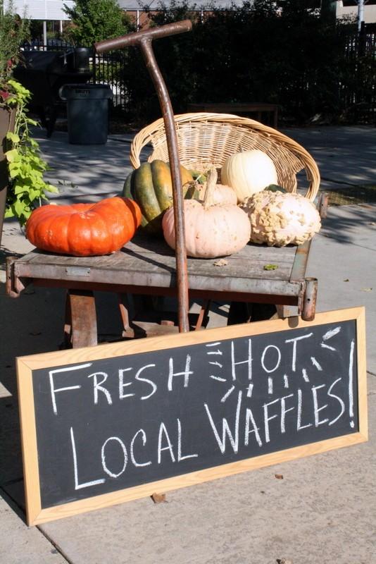 Local Waffles at Atherton Mill Market