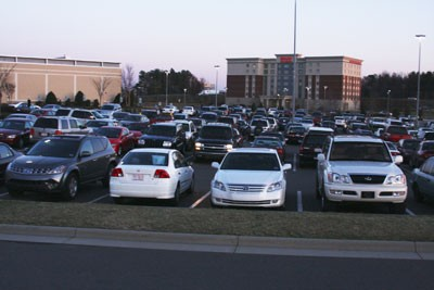 Look at all the cars at Northlake Mall.