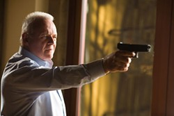SAM EMERSON / NEW LINE - LOVE IS A BULLET Ted Crawford (Anthony Hopkins) deals with his adulterous wife in Fracture.