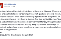 Lulu announces it will close ... at the end of the year