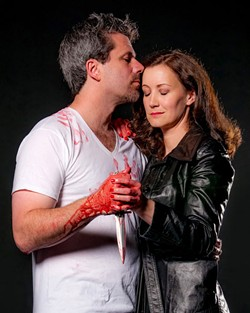 PHOTOGRAPHY BY AUSTIN CAINE - MAC THE KNIFE: Christian Casper and Gretchen McGinty as the murderous Macbeths