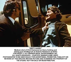WARNER BROS. - MAGNUM, P.I.: Harry (Clint Eastwood) threatens Scorpio (Andy Robinson) with his favorite firearm in Dirty Harry.
