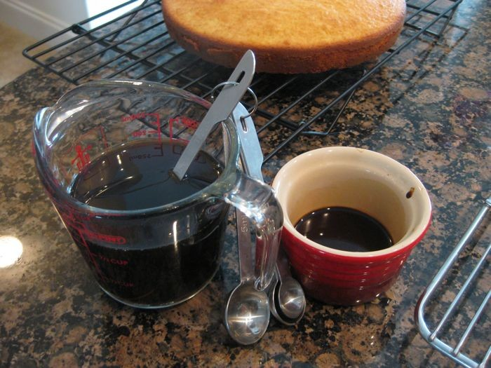Make the espresso extract and syrup.