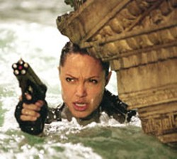 PARAMOUNT - MAKING A SPLASH Things are going swimmingly for - Lara Croft Tomb Raider: The Cradle of Life star - Angelina Jolie