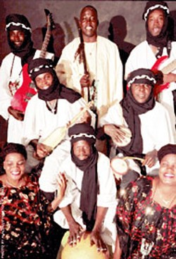 Mamar Kassey, --  a traditional group from Niger who - are popular with world music fans - canceled their - American tour after only two members were issued - visas.