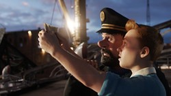PARAMOUNT - MAP TO THE STARS: Tintin (right) and Haddock search for clues in The Adventures of Tintin.
