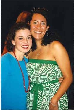 MARIE, MARIE: Brenda Giraldo (left), who portrays Marie Gonzales in Limbo, stands next to the real-life Marie, who appeared at CAST for talkbacks last weekend.