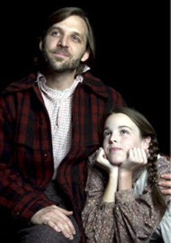DONNA BISE - Mark Sutton and Emily Hudson in Children's Theatre of - Charlotte's production of A Laura Ingalls Wilder - Christmas