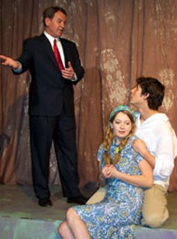 CAMILLE J. DEWING-VALLEJO - Marshall Case, Amy Campbell and Doug Spagnola in - BareBones Theatre Group's THE PLAY ABOUT THE - BABY