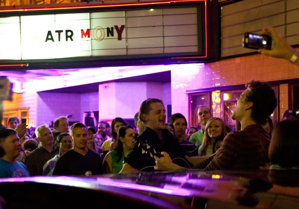 Matrimony performs outside of the Neighborhood Theatre on May 30.